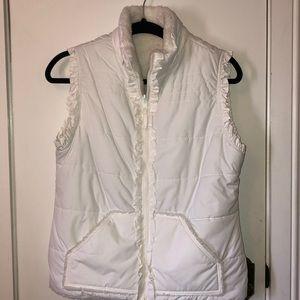 Jackets & Blazers - Cute white vest size Sm. Has fur inside